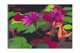 Pink Waterlilies, 1980s Giclee Print by Hugh Bulley