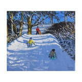 Fun in the Snow,Wash Green,Derbyshire, 2014 Giclee Print by Andrew Macara