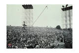 Woodstock- Crowd with Scaffolding (Black and White) Photo by  Epic Rights