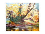 Autumn on the Darent, 1999 Giclee Print by Cristiana Angelini