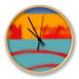 Surf's Up II Clock by Ricki Mountain