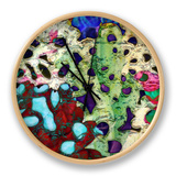 Bejeweled Woodblock II Clock by Ricki Mountain
