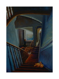 Leaving Home 2000 Staircase Giclee Print by Lee Campbell
