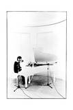 John Lennon - Recording Imagine 1971 Print by  Epic Rights