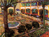 The Courtyard of the Hospital at Arles Posters by Vincent van Gogh