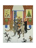 Christmas Carols Giclee Print by Pat Scott