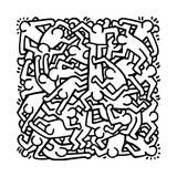 Keith Haring - Party of Life Invitation, 1986 Digitálně vytištěná reprodukce