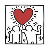 Pop Shop Lámina giclée por Keith Haring