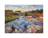 Hill Country Waters Giclee Print by Erin Hanson
