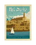 Tel Aviv, Israel, Explore Old Jaffa Giclée-tryk af Anderson Design Group