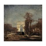 L'Arc de Triomphe de l'Etoile Giclee Print by Félix Ziem