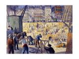 Chantier de construction Giclee Print by Maximilien Luce