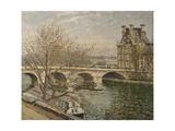 Pont royal et Pavillon de Flore, à Paris Giclee Print by Camille Pissarro