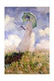 Essai de figure en plein air (1886), Dit femme à l'ombrelle tournée vers la gauche Giclee Print by Claude Monet