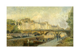 Le Pont-Neuf Giclee Print by Albert Lebourg