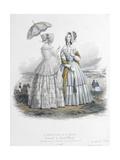 Le Moniteur de la mode (planche 50): sans titre (toilettes d'été pour dame) Giclee Print by Jules David