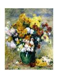 Bouquet de chrysanthèmes Giclee Print by Pierre-Auguste Renoir