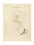 Plan de Paris par arrondissements en 1834 : IVème arrondissement Quartier des marchés Giclee Print by Aristide-Michel Perrot