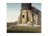 L'église de Montmartre, avec la tour du télégraphe Chappe Giclee Print by Etienne Bouhot
