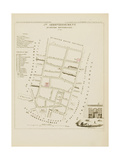 Plan de Paris par arrondissements en 1834 : Vème arrondissement Quartier Montorgueil Giclee Print by Aristide-Michel Perrot