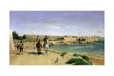 La promenade à cheval à Antibes Giclee Print by Ernest Meissonier