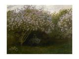 Lilas gris, dit le repos sous les lilas Reproduction procédé giclée par Claude Monet