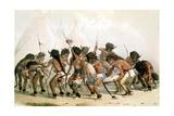 Danse du bison chez les Indiens d'Amérique du Nord Giclee Print by Mc Gahey d'après G. Catlin