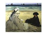 Sur la plage Giclee Print by Édouard Manet