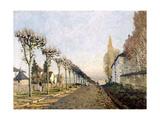 La route vue du chemin de Sèvres Giclee Print by Alfred Sisley