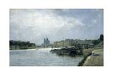 L'île de la Cité et l'île Saint-Louis vues du pont d'Austerlitz Giclee Print by Stanislas Lepine