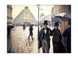 Paris, un jour de pluie Giclée-tryk af Gustave Caillebotte