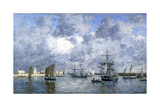 Port de Camaret Giclee Print by Eugène Boudin