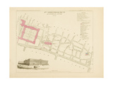 Plan de Paris par arrondissements en 1834 : IV ème arrondissement Quartier du Louvre Giclee Print by Aristide-Michel Perrot