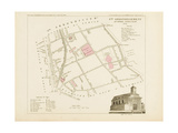 Plan de Paris.arrondissements en 1834: VIIIème arrondissement Quartier Popincourt Giclee Print by Aristide-Michel Perrot