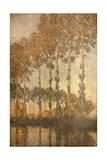 Peupliers au bord de l'Epte, effet de soleil couchant Giclee Print by Claude Monet