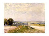 Chemin de Montbuisson à Louveciennes Giclee Print by Alfred Sisley