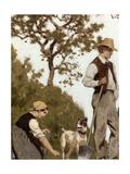 Horticulture, Esquisse pour l'école de la rue Château-Landon Giclee Print by Jules Didier