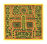 Untitled, 1983 (abstract figure) Giclee Print by Keith Haring