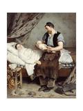Le nouveau né Giclee Print by André Gill