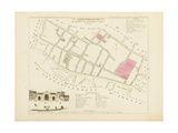 Plan de Paris par arrondissements en 1834 : VIIème arrondissment Quartier du Marché Saint-Jean Giclee Print by Aristide-Michel Perrot