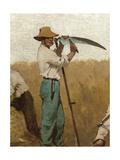 L'Agriculture: la moisson, Esquisse pour l'école de la rue Château-Landon Giclee Print by Jules Didier