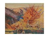 Paysage, le rocher de la Frileuse Giclee Print by Armand Guillaumin