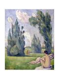 Nus dans un paysage Giclee Print by Emile Bernard