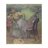 Madame Alexis Rouart et ses enfants Giclee Print by Edgar Degas