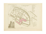 Plan de Paris par arrondissements en 1834 : IXème arrondissement Quartier de la Cité Giclee Print by Aristide-Michel Perrot