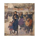 Gros temps au large, matelotes d'Etaples Giclee Print by Jules Adler