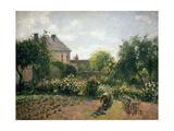 Le jardin de l'artiste à Eragny Reproduction procédé giclée par Camille Pissarro