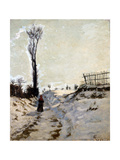Chemin creux, effet de neige Giclee Print by Armand Guillaumin