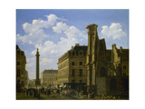 La Place Vendôme et la rue de Castiglione, avec les ruines de l'église des Feuillants Giclee Print by Etienne Bouhot