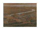 Vue perspective des palais des Champs-Elysées: projet pour l'Exposition universelle de 1900 Giclee Print by Charles Louis Girault